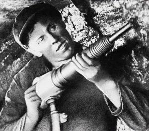 труженик шахты Алексей Стаханов